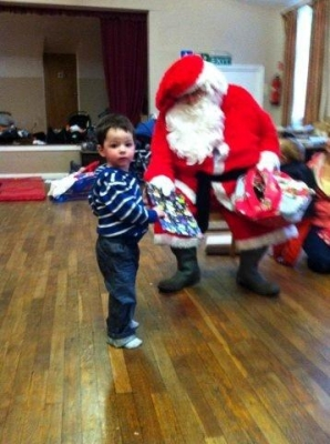 Freddie meets Father Christmas at Toddler Group
