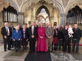 Supporters at the Confirmation Service at Exeter Cathedral