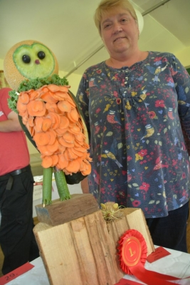 Mandy Cotter made a vegetable owl (Image: Lewis Clarke)