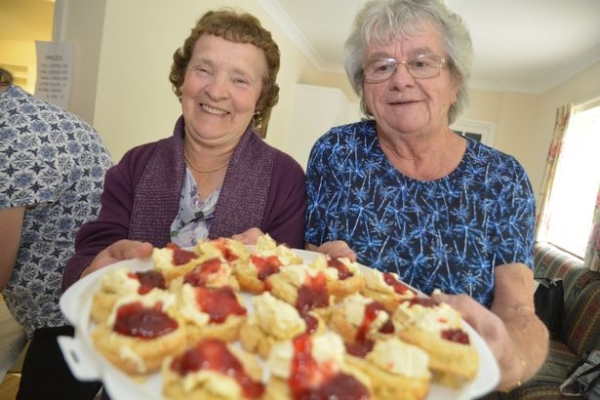 Sheila Greenslade and Rita Tapp with a selection of scones (Image: Lewis Clarke)