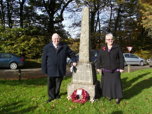 Derek and Mary at Rackenford\~s Rememberance Servi